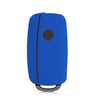 Husa Xiaomi Redmi 4A, Piele ecologica, Albastru, 43848.17