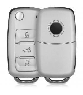 Husa slim Xiaomi MI5 - Material textil si Piele PU - Light Grey Brown - 38215.25