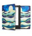 Husa pentru Kobo Aura H2O Edition 1, Piele ecologica, Albastru, 31485.32