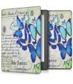 Husa pentru Kobo Aura H2O Edition 2, Piele ecologica, Albastru, 42076.01