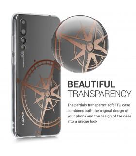 Husa Samsung Galaxy A7 (2018), Piele ecologica, Negru, 46428.01