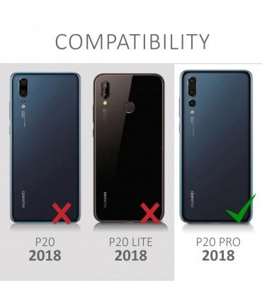 Husa pentru Samsung Galaxy A7 (2018), Piele ecologica, Negru, 46426.01