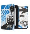 Husa pentru Kindle Paperwhite 10, Piele ecologica, Multicolor, 46644.23