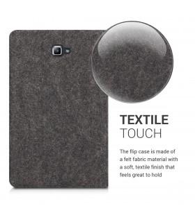 Husa Samsung Galaxy S8, Piele ecologica, Negru, 42158.02