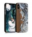Husa pentru Apple iPhone X / iPhone XS, Lemn, Maro, 46661.02