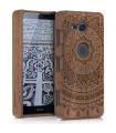 Husa pentru Sony Xperia XZ2 Compact, Lemn, Maro, 47781.01