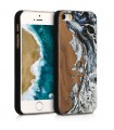 Husa pentru Apple iPhone 5 / iPhone 5s / iPhone SE, Lemn, Maro, 46473.03