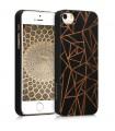 Husa pentru Apple iPhone 5 / iPhone 5s / iPhone SE, Lemn, Negru, 46473.02