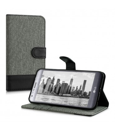 Husa pentru LG X Cam, Textil, Gri, 37211.22